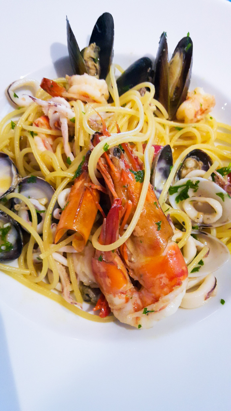 While In Phnom Penh Treat Yourself To The Best Seafood Spaghetti At TerrazzaRestaurant